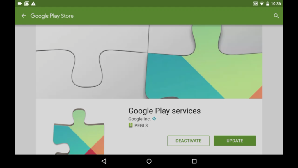 android tablet google play services has stopped