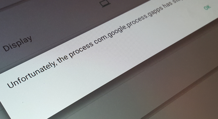 Unfortunately, the process com google process gapps has stopped